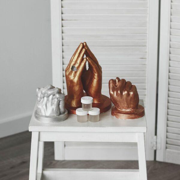 Гидрофобная добавка для слепков, скульптуры рук
